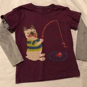 Mini boden 4/5 long sleeve tee